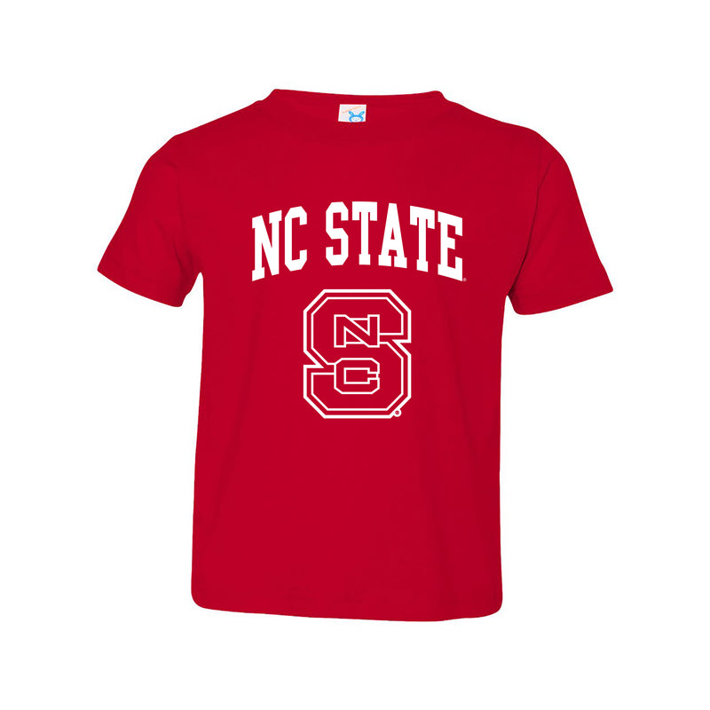 North Carolina State University Wolfpack Arch Logo Toddler Short Sleeve T-Shirt - Red