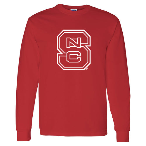 North Carolina State University Wolfpack Block S Long Sleeve T Shirt - Red