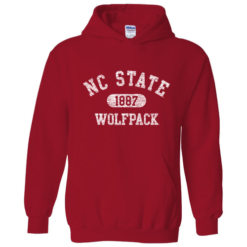 NC State Athletic Arch Hoodie - Red