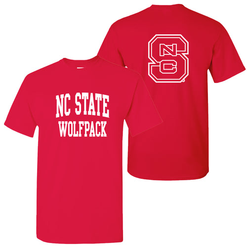 NC State Front Back Print T Shirt - Red