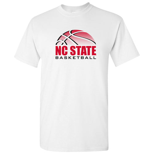 NC State Basketball Shadow T Shirt - White
