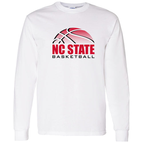 North Carolina State University Wolfpack Basketball Shadow Long Sleeve T Shirt - White