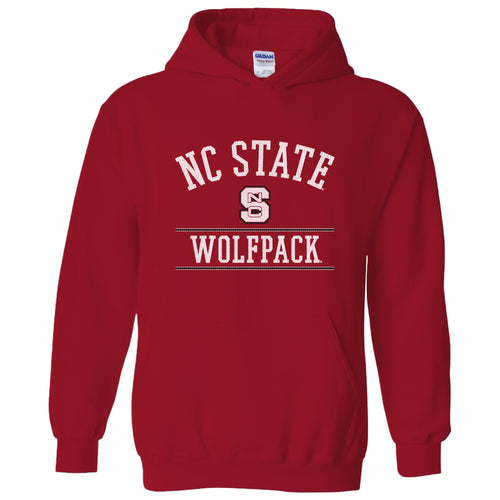 North Carolina State University Wolfpack Mesh Arch Hoodie - Red