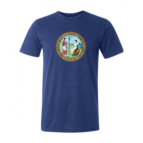 North Carolina State Seal Canvas Tee - Navy Triblend