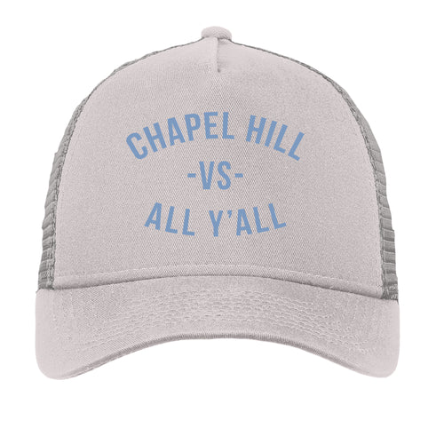 Chapel HIll VS All Yall Embroidered Mesh Back Trucker Hat - Grey