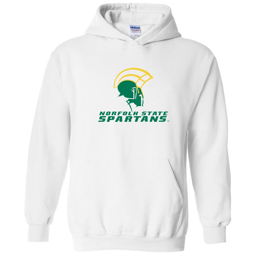 Norfolk State University Spartans Primary Logo Heavy Blend Hoodie - White