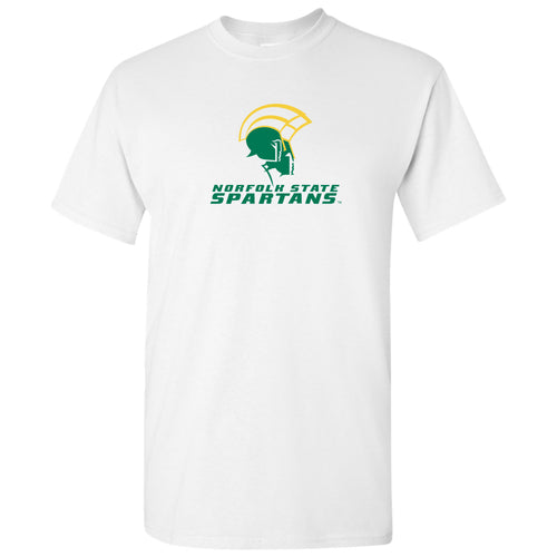 Norfolk State University Spartans Primary Logo Short Sleeve T Shirt - White