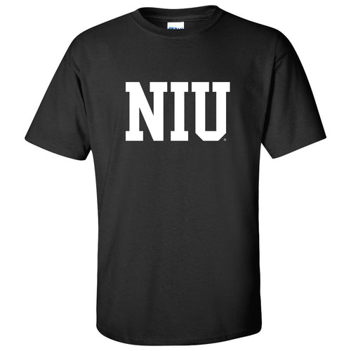 Northern Illinois University Huskies Basic Block Short Sleeve T Shirt - Black