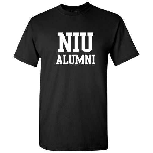 Northern Illinois University Huskies Basic Block Alumni Short Sleeve T Shirt - Black