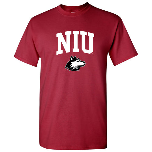 Northern Illinois University Huskies Arch Logo Short Sleeve T Shirt - Cardinal