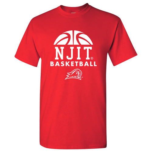 New Jersey Institute of Technology Highlanders Basketball Hype Short Sleeve T Shirt - Red