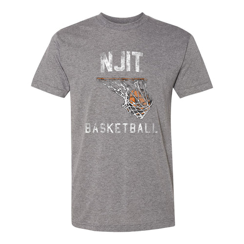 NJIT Retro BasketBall Hoop - Athletic Grey