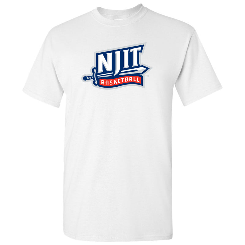 New Jersey Institute of Technology Highlanders Basketball Short Sleeve T Shirt - White