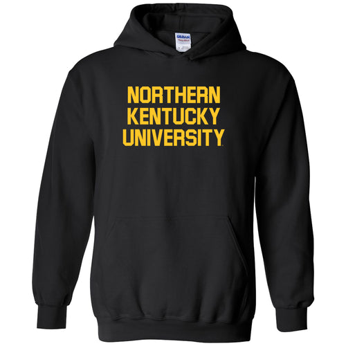 Northern Kentucky University Norse Basic Block Heavy Blend Hoodie - Black