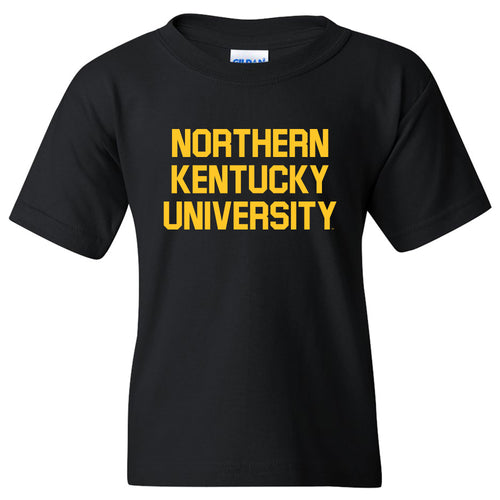 Northern Kentucky University Norse Basic Block Youth Short Sleeve T Shirt - Black