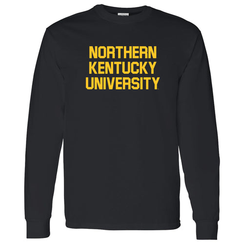 Northern Kentucky University Norse Basic Block Long Sleeve T Shirt - Black