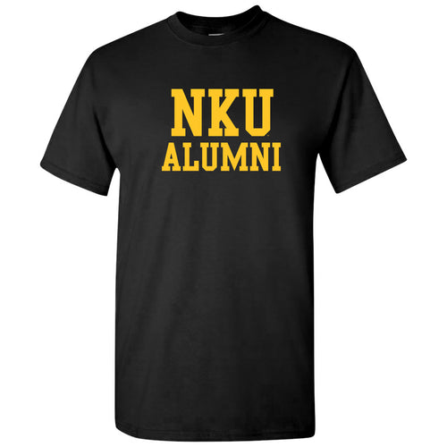 Northern Kentucky University Norse Alumni Basic Block Short Sleeve T Shirt - Black