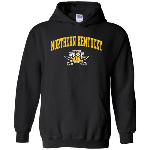 Northern Kentucky University Norse Arch Logo Heavy Blend Hoodie - Black