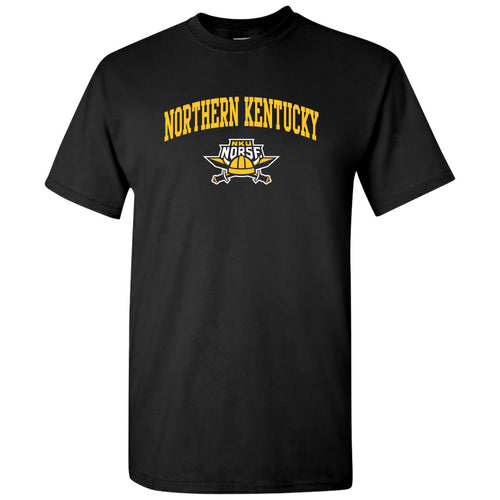 Northern Kentucky University Norse Arch Logo Short Sleeve T Shirt - Black