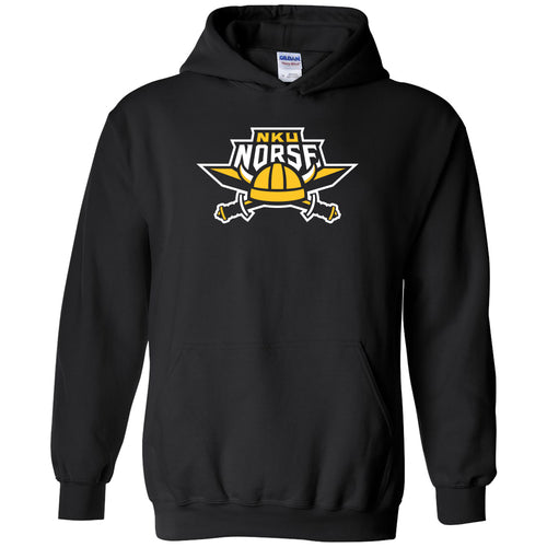 Northern Kentucky University Norse Primary Logo Heavy Blend Hoodie - Black