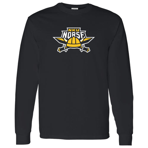 Northern Kentucky University Norse Primary Logo Long Sleeve T Shirt - Black