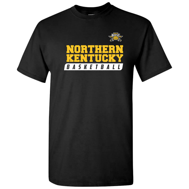 Northern Kentucky University Norse Basketball Slant Short Sleeve T Shirt - Black