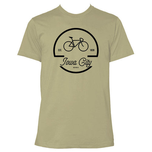 Iowa City Bike Logo - Light Olive