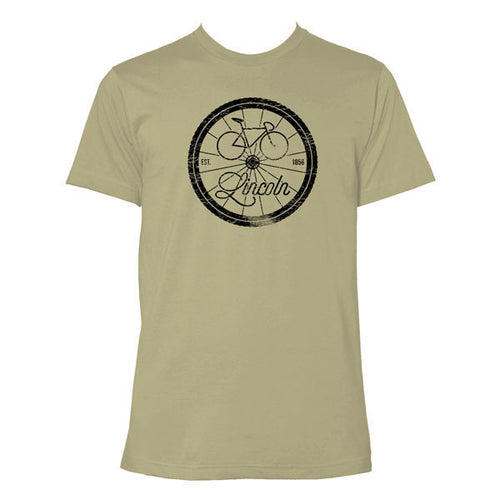 Lincoln Bike Logo - Light Olive
