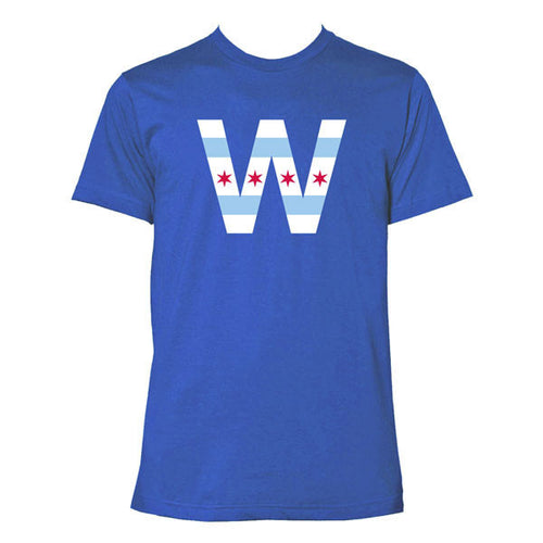 Chicago Flag W Short Sleeve T Shirt - Royal