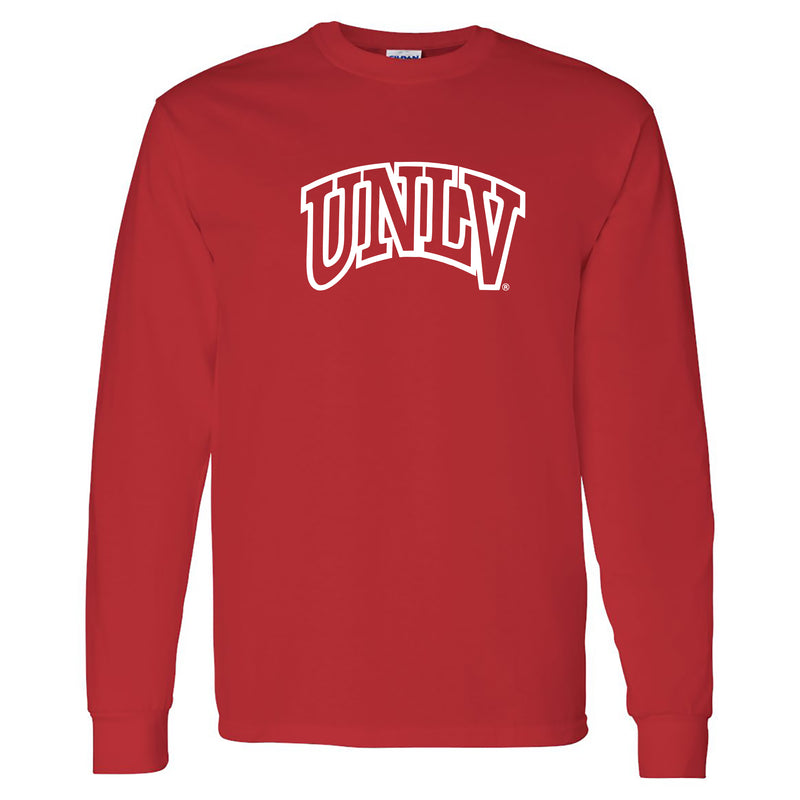 University of Nevada Las Vegas Rebels Arch Logo Long Sleeve T Shirt - Red