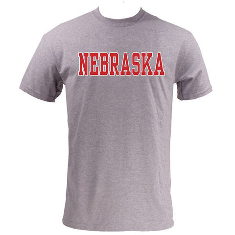 Nebraska Basic MVS Short Sleeve - Heather Grey