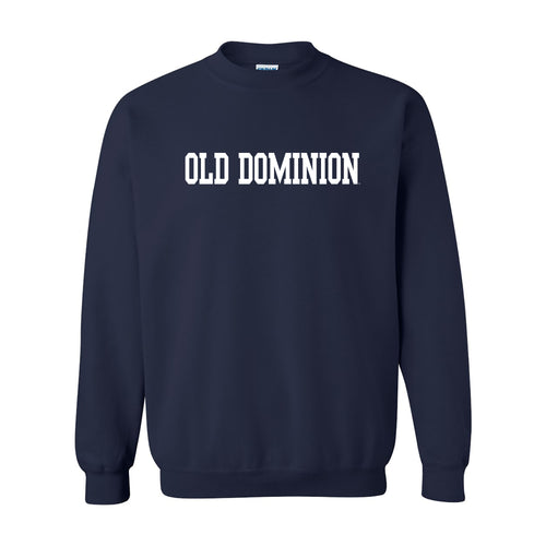 Old Dominion University Monarchs Basic Block Crewneck Sweatshirt - Navy