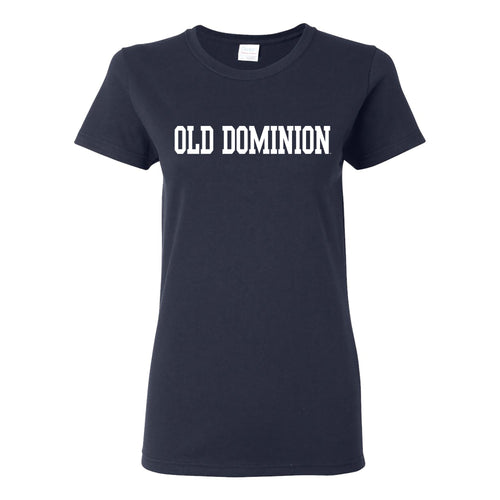 Old Dominion University Monarchs Basic Block Womens Short Sleeve T Shirt - Navy
