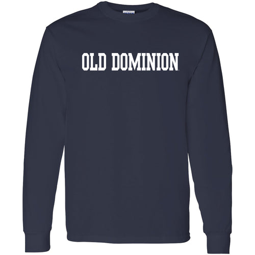 Old Dominion University Monarchs Basic Block Long Sleeve T-shirt - Navy
