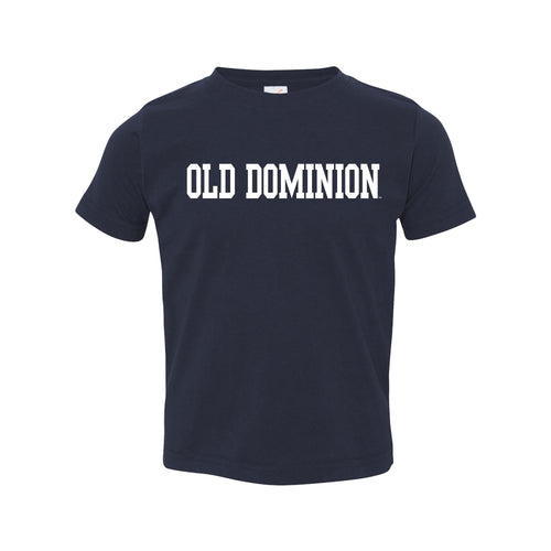 Old Dominion University Monarchs Basic Block Toddler Short Sleeve T Shirt - Navy