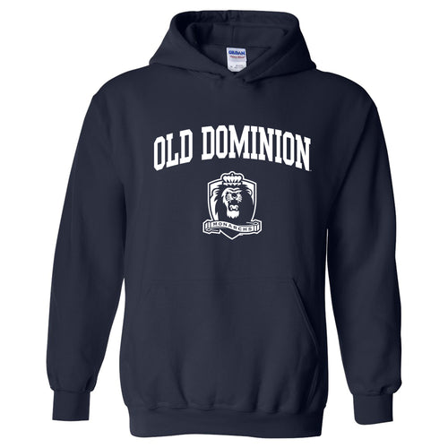 Old Dominion University Monarchs Arch Logo Heavy Blend Hoodie - Navy