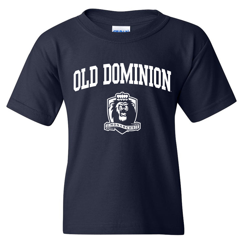 Old Dominion University Monarchs Arch Logo Youth Short Sleeve T Shirt - Navy