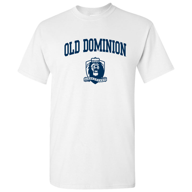 Old Dominion University Monarchs Arch Logo Short Sleeve T Shirt - White