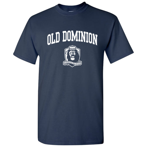 Old Dominion University Monarchs Arch Logo Short Sleeve T Shirt - Navy