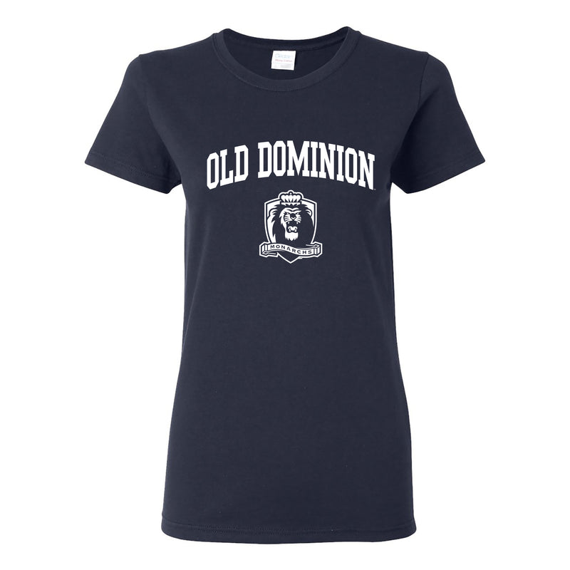 Old Dominion University Monarchs Arch Logo Short Sleeve Womens T Shirt - Navy