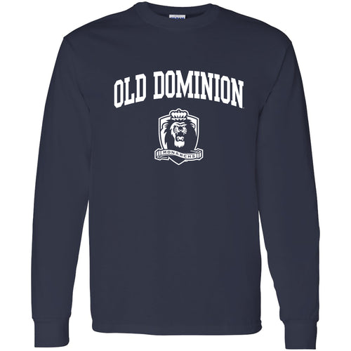 Old Dominion University Monarchs Arch Logo Long Sleeve T-Shirt - Navy