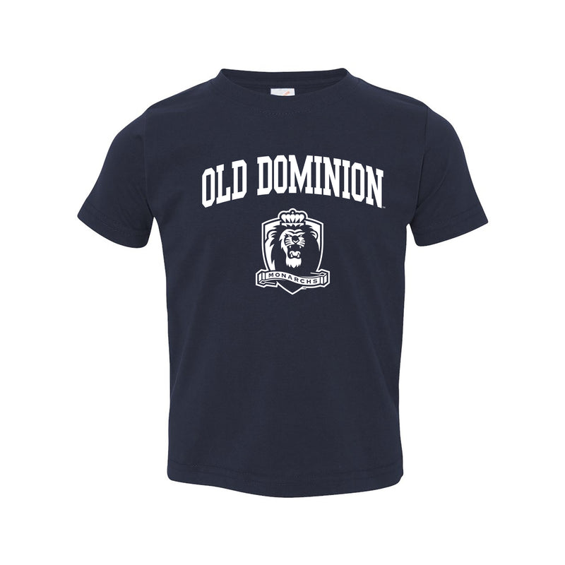 Old Dominion University Monarchs Arch Logo Toddler Short Sleeve T Shirt - Navy