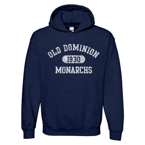 Old Dominion University Monarchs Athletic Arch Heavy Blend Hoodie - Navy