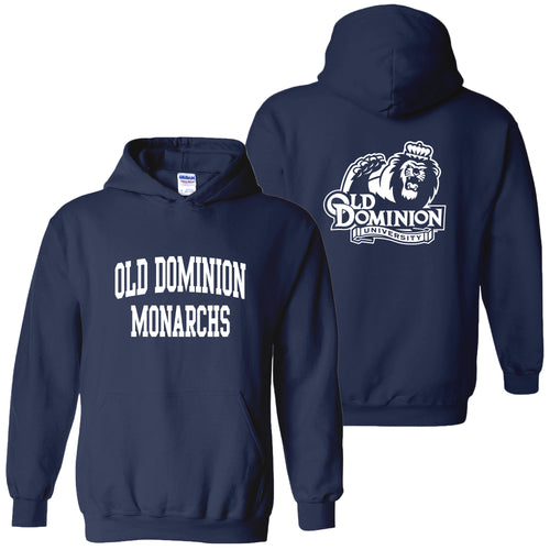 Old Dominion University Monarchs Front Back Print Heavy Blend Hoodie - Navy