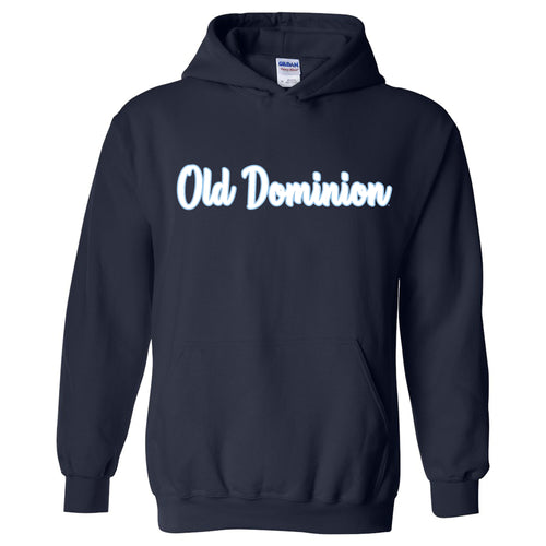 Old Dominion University Monarchs Basic Script Heavy Blend Hoodie - Navy