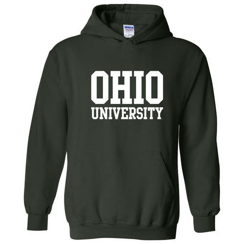 Ohio University Bobcats Basic Block Hoodie - Forest