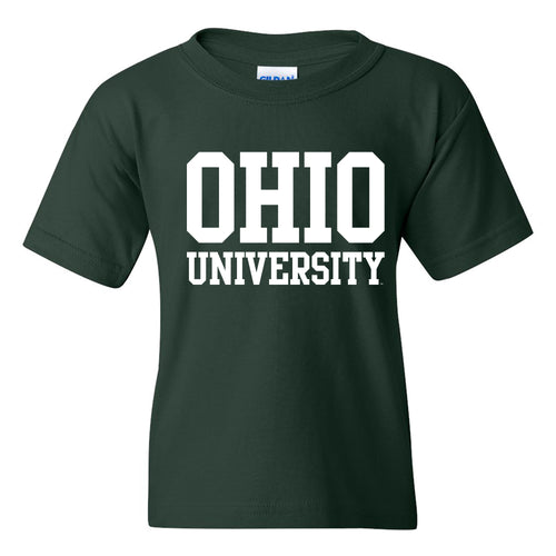 Ohio University Bobcats Basic Block Youth T Shirt - Forest