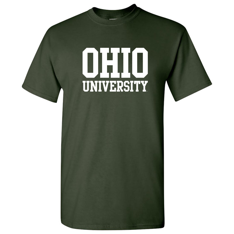 Ohio University Bobcats Basic Block Short Sleeve T Shirt - Forest