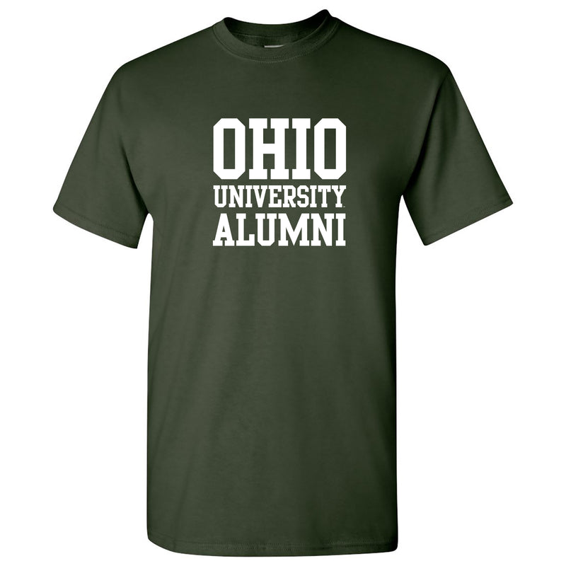 Ohio University Bobcats Basic Block Alumni Short Sleeve T Shirt - Forest