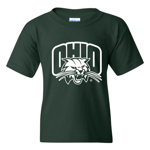 Ohio University Bobcats Arch Logo Youth T Shirt - Forest